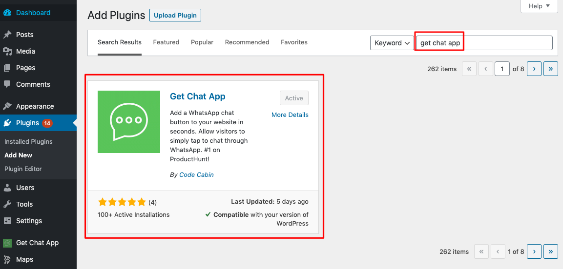 HTML Instructions for Installation Get Chat App on your website